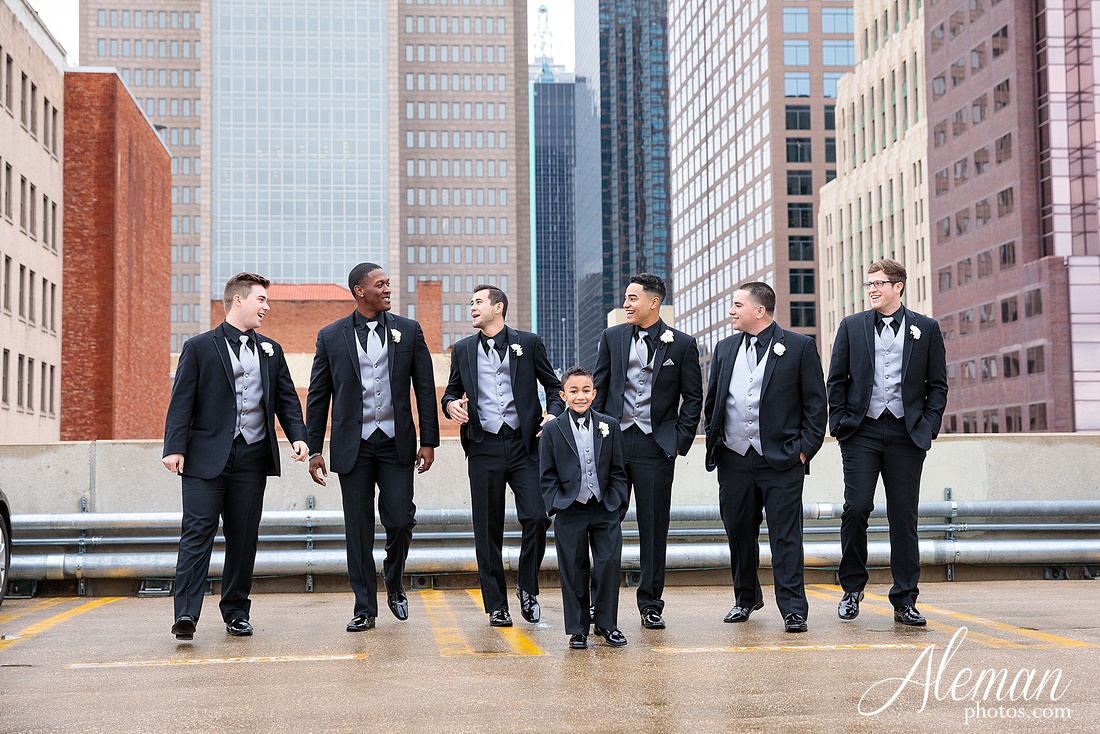 downtown-dallas-wedding-room-on-main-city-urban-skyscraper-formal-black-bridesmaids-dresses-021