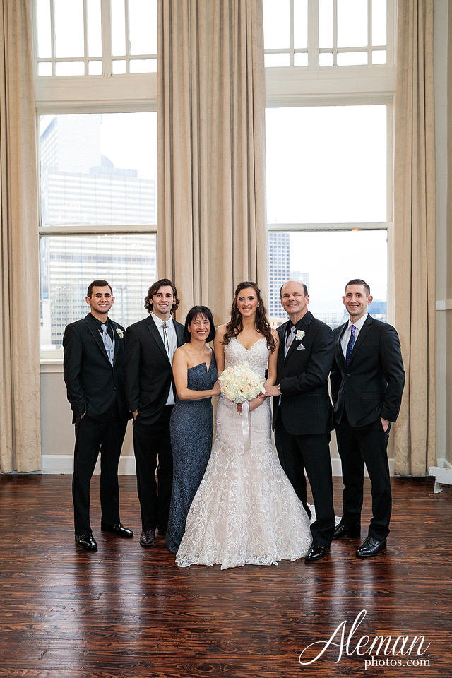 downtown-dallas-wedding-room-on-main-city-urban-skyscraper-formal-black-bridesmaids-dresses-033
