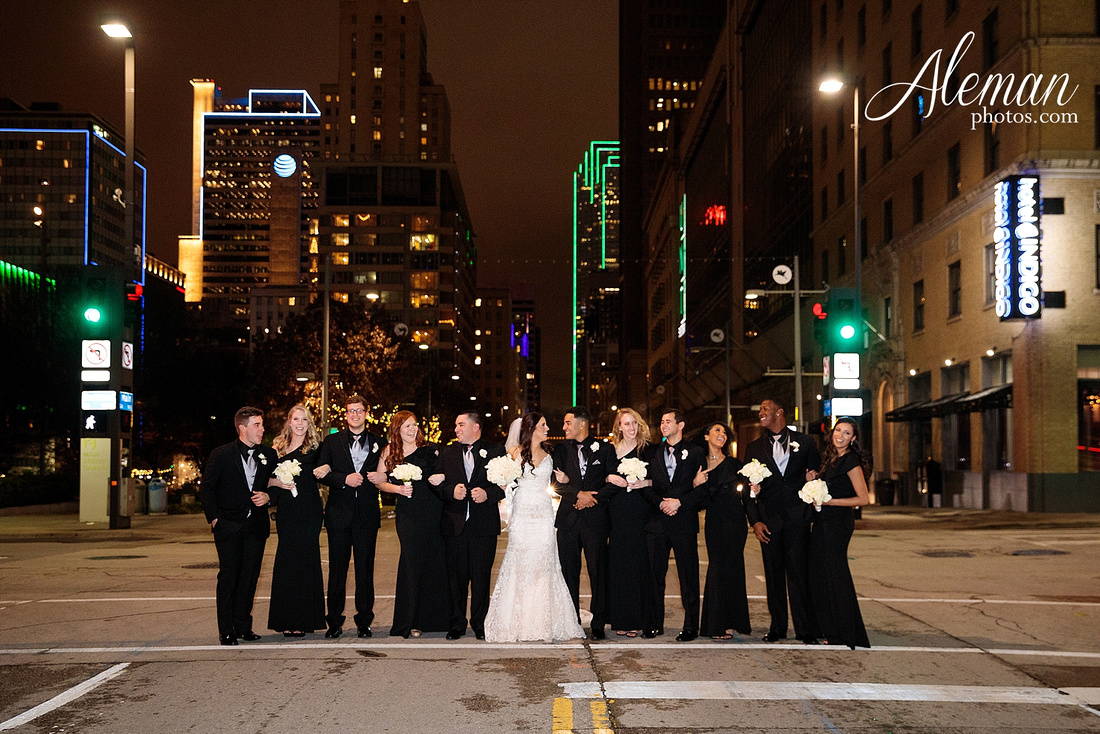 downtown-dallas-wedding-room-on-main-city-urban-skyscraper-formal-black-bridesmaids-dresses-059