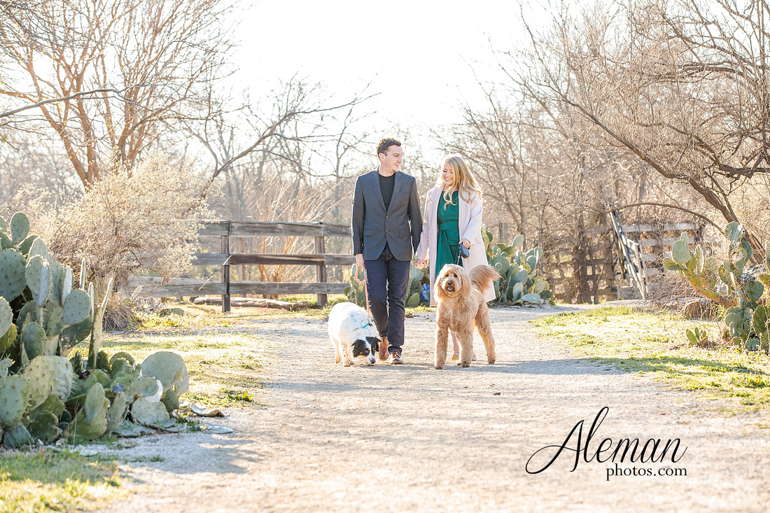 fort-worth-stockyards-engagement-dogs-rustic-winter-green-dress-formal-goldendoodle-aleman-photos-001