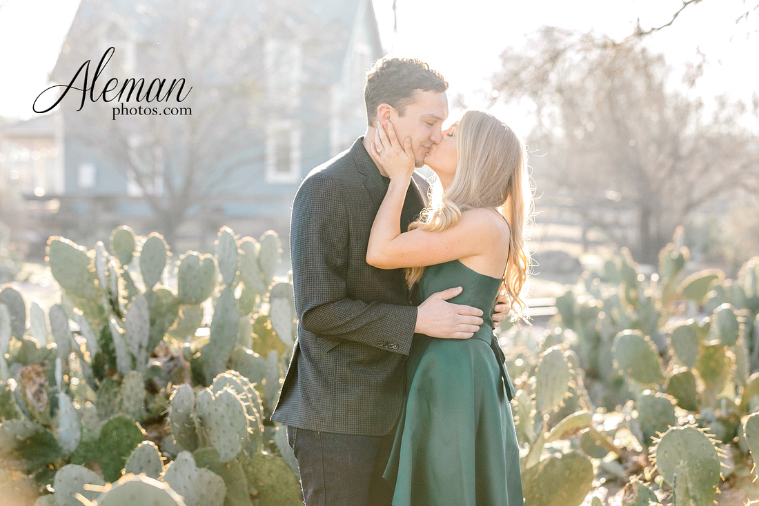 fort-worth-stockyards-engagement-dogs-rustic-winter-green-dress-formal-goldendoodle-aleman-photos-007
