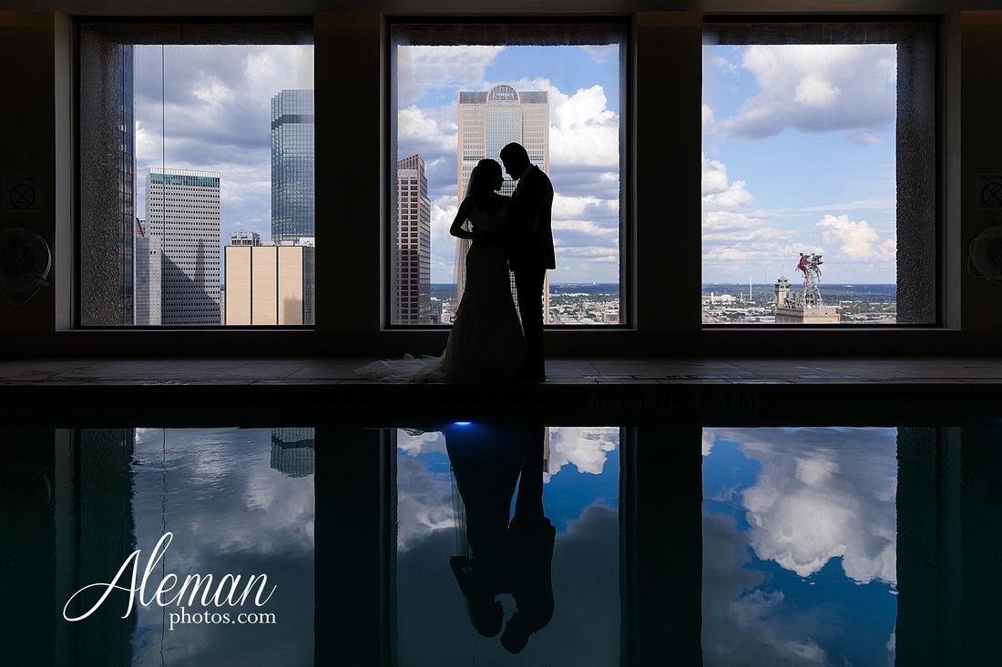 st-joseph-catholic-church-arlington-wedding-dallas-westin-downtown-urban-city-cityscape-el-fenix-pink-bridesmaid-dresses-gray-suit-navy-suit-fake-flowers-aleman-photos-mercedes-ian-012