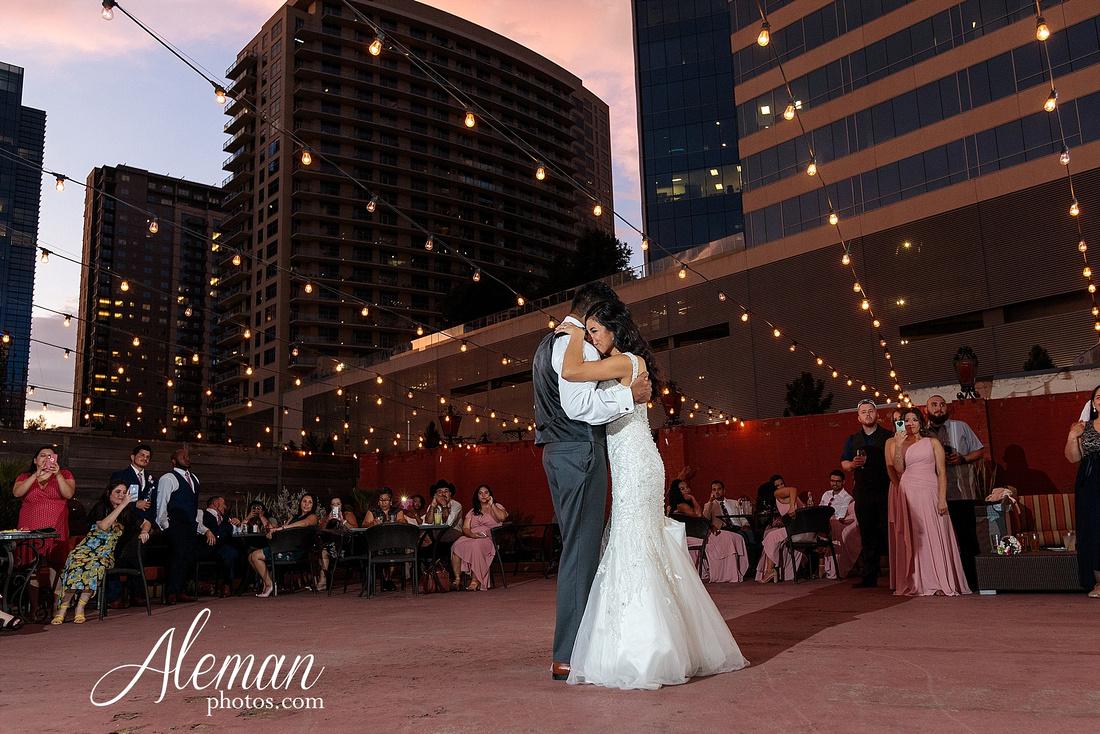 st-joseph-catholic-church-arlington-wedding-dallas-westin-downtown-urban-city-cityscape-el-fenix-pink-bridesmaid-dresses-gray-suit-navy-suit-fake-flowers-aleman-photos-mercedes-ian-052