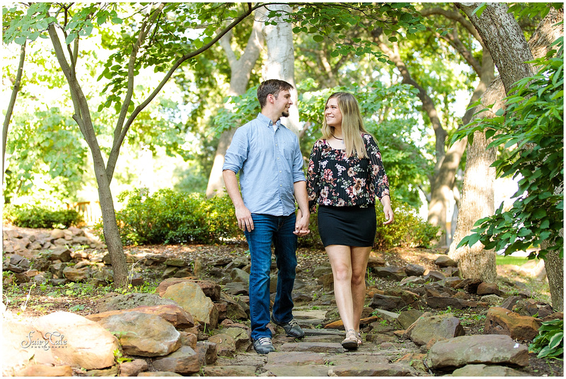 twu-gardens-greenhouse-denton-outdoor-engagement-caitlin 001