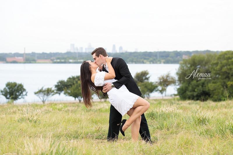 white-rock-lake-engagement-photographer-dallas-wedding-sunrise-sunset-dip-kiss-black-and-white-sam-brandon-aleman-photos016