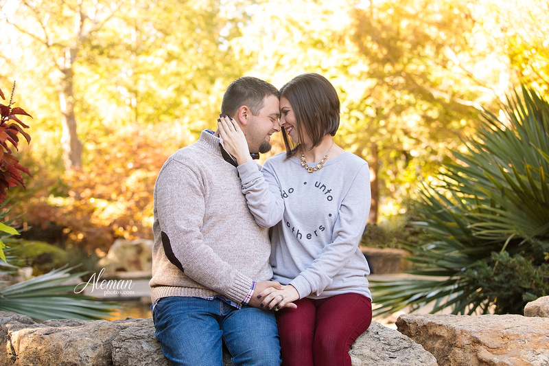 Fall Dallas Arboretum Engagement